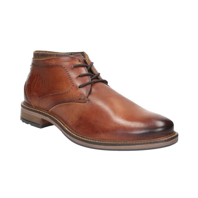 Kožená pánská kotníčková obuv bugatti, hnědá, 826-3005 - 13