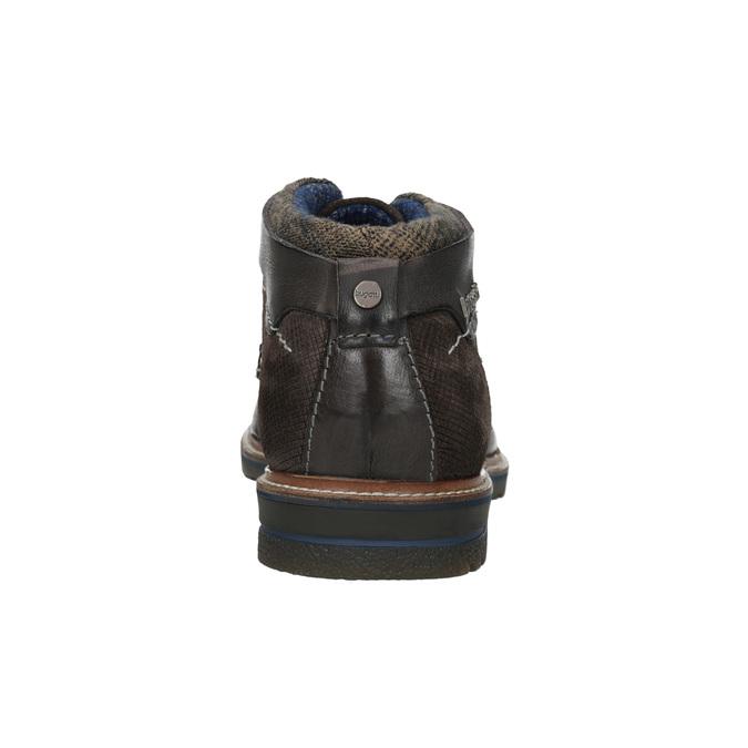 Pánská kotníčková obuv s prošitím bugatti, šedá, 826-2011 - 16