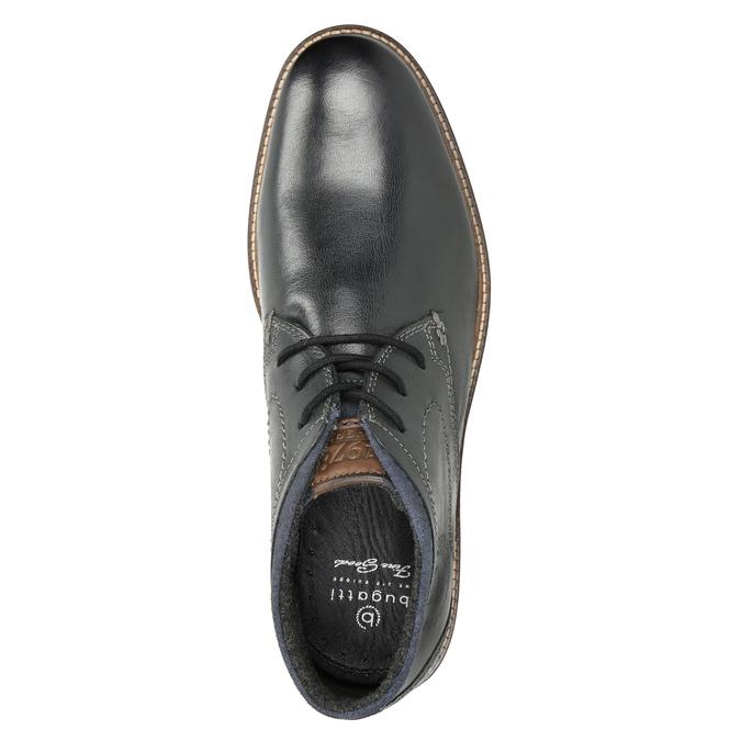 Pánská kožená kotníčková obuv bugatti, černá, 824-6015 - 15