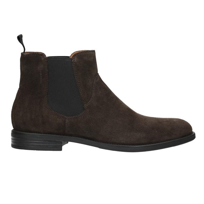 Pánská kožená Chelsea obuv vagabond, hnědá, 813-4019 - 26