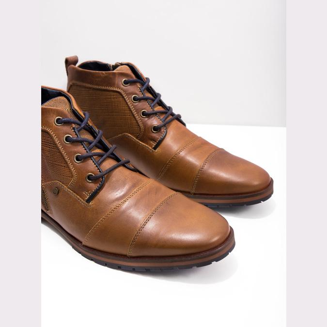 Kožená kotníková obuv se zipem bata, hnědá, 826-3911 - 18