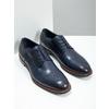 Ležérní kožené polobotky modré bata, modrá, 826-9681 - 18