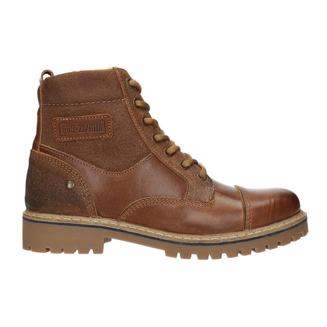 Dívčí kožená kotníčková obuv bullboxer, hnědá, 494-3022 - 26