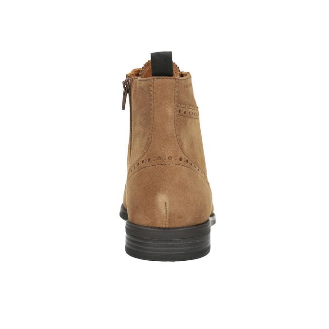 Kožená pánská kotníčková obuv vagabond, hnědá, 823-3016 - 16