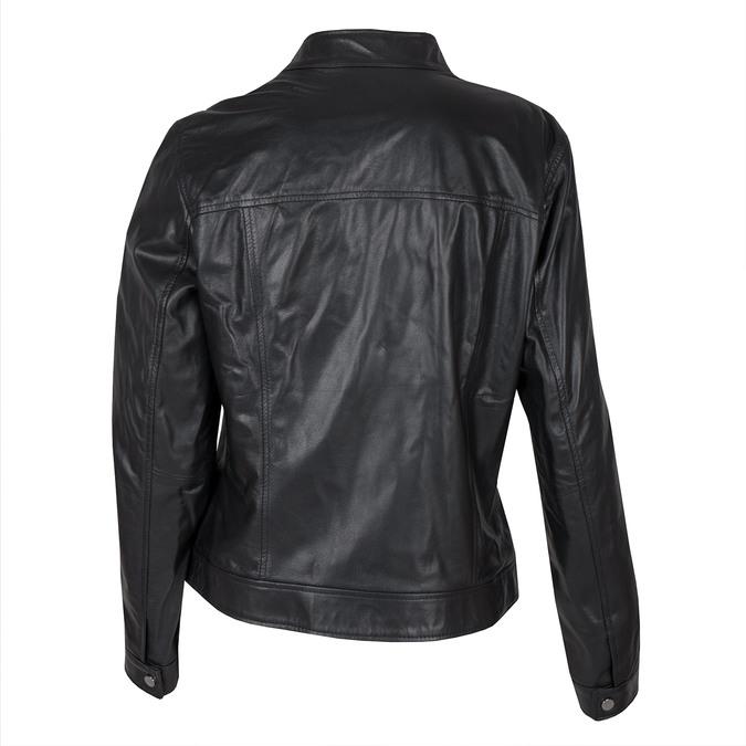 Černá kožená bunda bata, černá, 974-6175 - 26