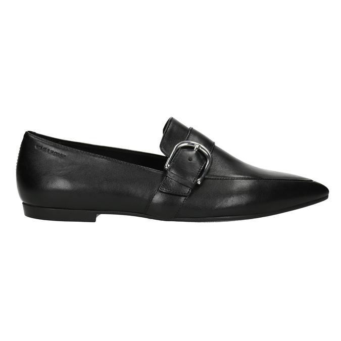 Kožené dámské mokasíny s přezkou vagabond, černá, 514-6017 - 26