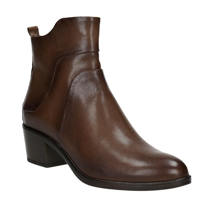Kotníčkové kozačky na stabilním podpatku bata, hnědá, 696-4654 - 13