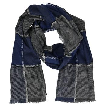 Pánská modrá šála bata, modrá, šedá, 909-9632 - 13