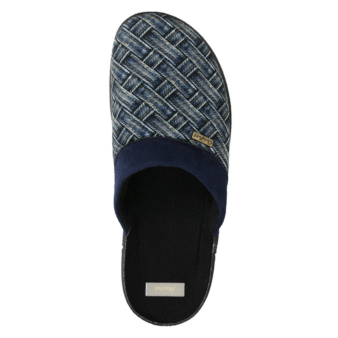 Pánská domácí obuv bata, modrá, 879-9611 - 26