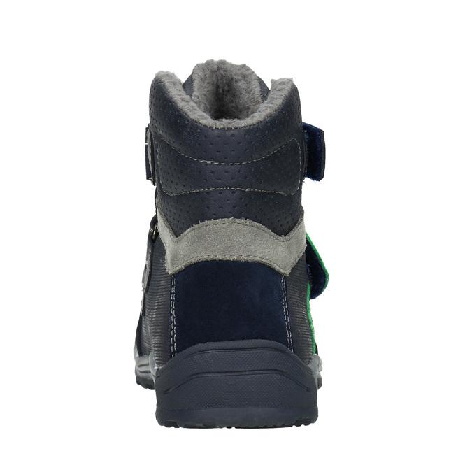 Kotníčková dětská zimní obuv mini-b, modrá, 291-9627 - 16