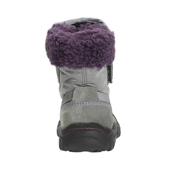 Dívčí zimní obuv s kožíškem bubblegummers, šedá, 193-2601 - 17