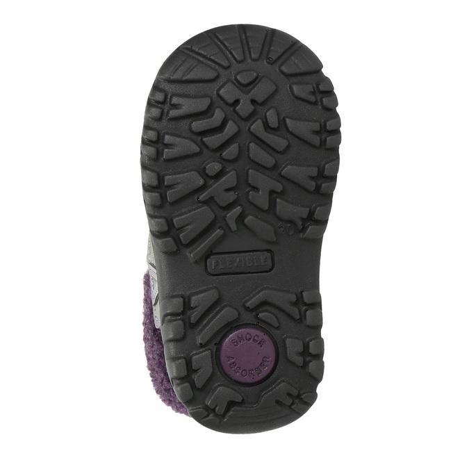 Dívčí zimní obuv s kožíškem bubblegummers, šedá, 193-2601 - 19