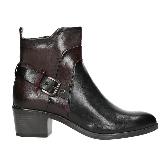 Dámská kotníčková obuv s přezkou bata, černá, 696-6651 - 26