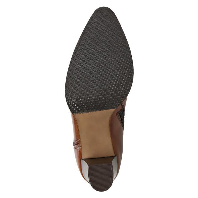 Kožené kotníčkové kozačky bata, hnědá, 794-4650 - 19