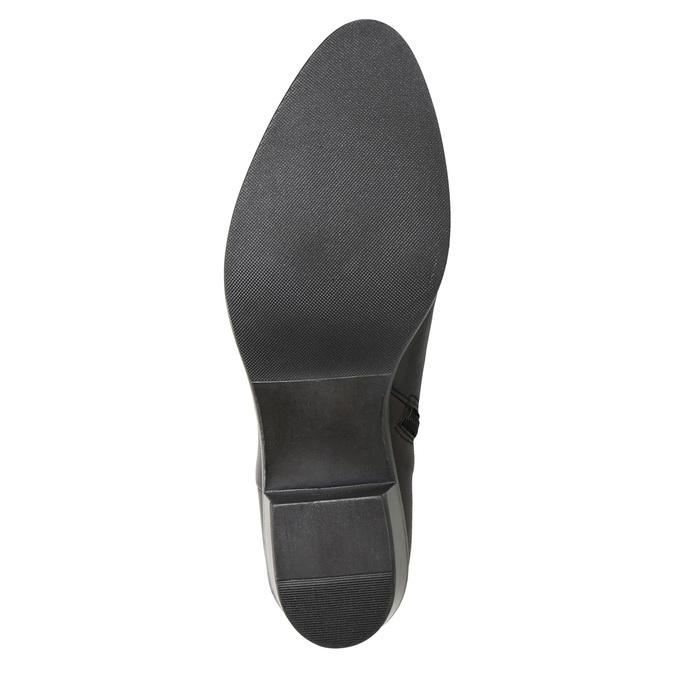 Dámská kotníčková obuv s přezkou bata, černá, 696-6651 - 17