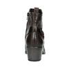 Dámská kotníčková obuv s přezkou bata, černá, 696-6651 - 16