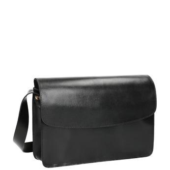 černá kožená Crossbody kabelka vagabond, černá, 964-6086 - 13