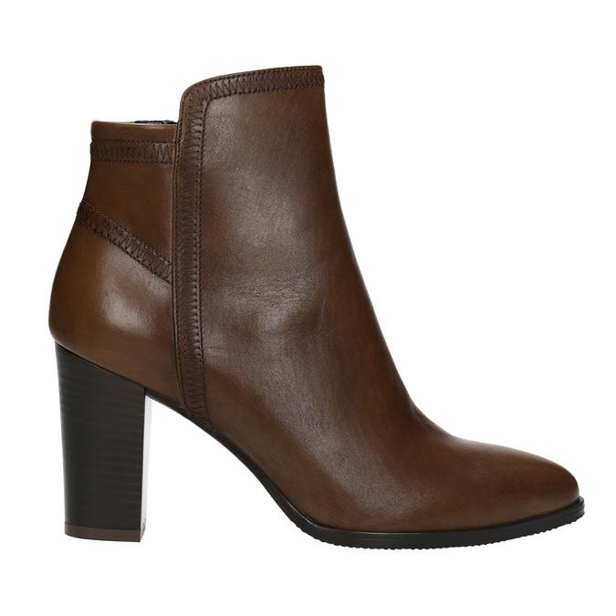 Kožená kotníčková obuv bata, hnědá, 794-4650 - 26