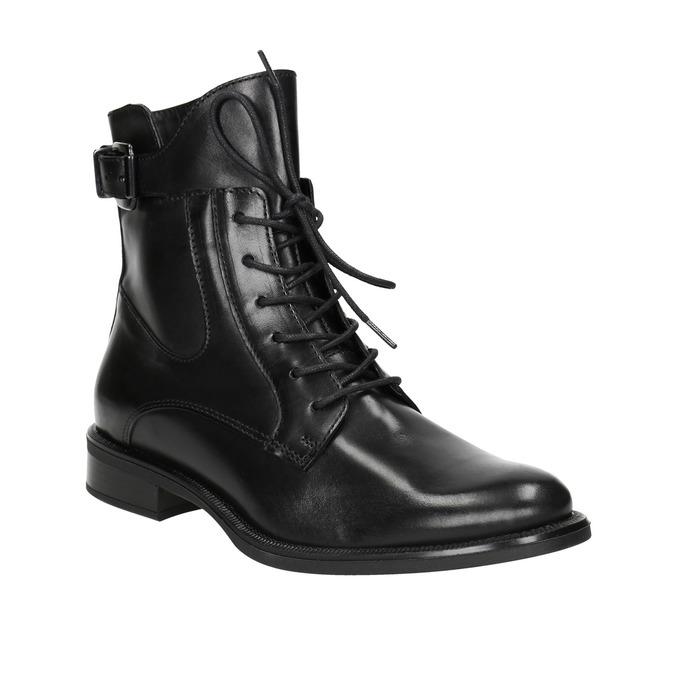 Kožená dámská kotníčková obuv bata, černá, 596-6680 - 13