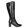 Kozačky na stabilním podpatku bata, černá, 694-6638 - 15