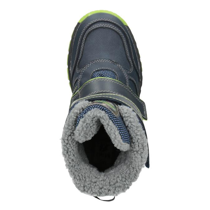 Dětská zimní obuv na suché zipy mini-b, modrá, 491-9654 - 15