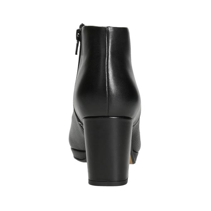 Kožené kotníčkové boty na podpatku clarks, černá, 714-6036 - 16