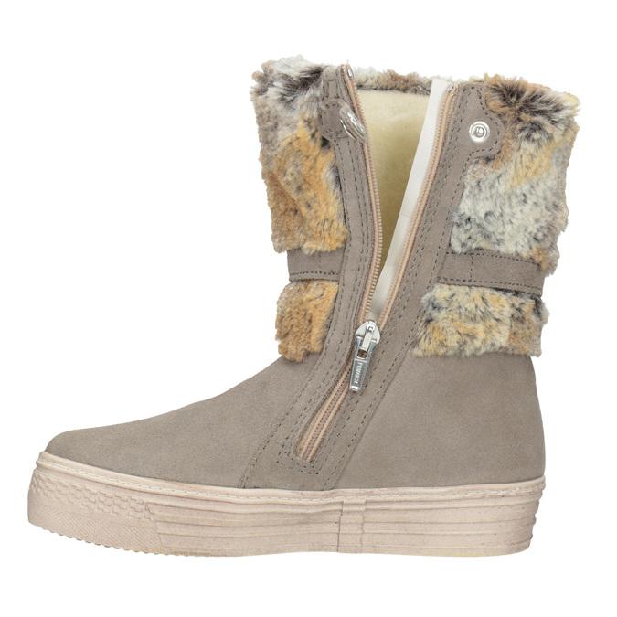 Dětské zimní boty s kožíškem primigi, béžová, 393-8015 - 15