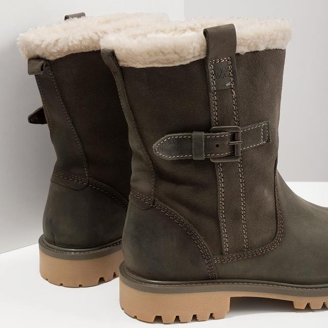 Dámská zimní obuv s kožíškem weinbrenner, khaki, 594-2455 - 18