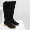 Kožené dámské kozačky bata, černá, 593-6606 - 18