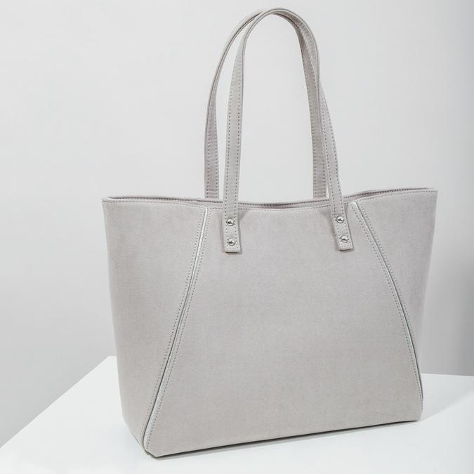 Béžová kabelka se stříbrnými detaily bata, šedá, 969-2669 - 18