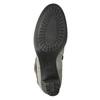 Kožené kotníčkové kozačky na podpatku, šedá, 793-2610 - 17