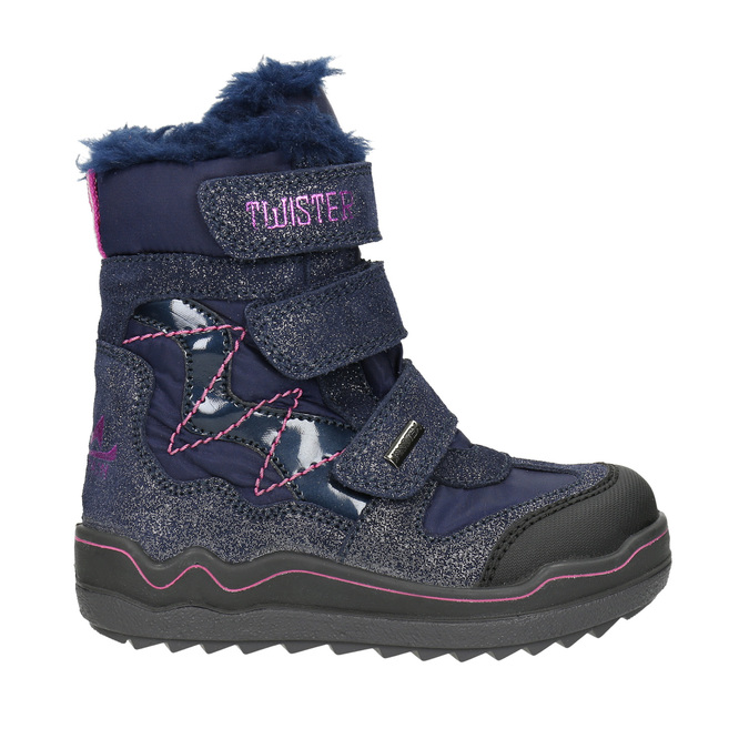Dívčí zimní obuv na suché zipy mini-b, modrá, 299-9613 - 15