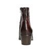 Kožené dámské kotníčkové kozačky bata, hnědá, 696-4653 - 16