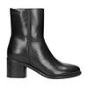 Kožená kotníčková obuv na podpatku ten-points, černá, 716-6045 - 26