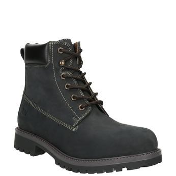 Pánská kožená zimní obuv weinbrenner, černá, 896-6656 - 13