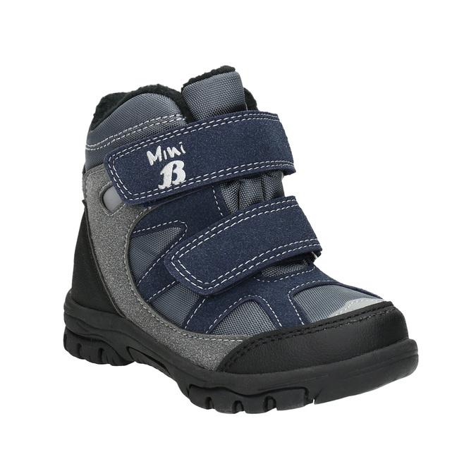 Dětské zimní boty na suché zipy mini-b, šedá, 291-2626 - 13