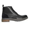 Kožená kotníčková obuv zimní bata, černá, 896-6685 - 15
