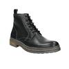 Kožená kotníčková obuv zimní bata, černá, 896-6685 - 13