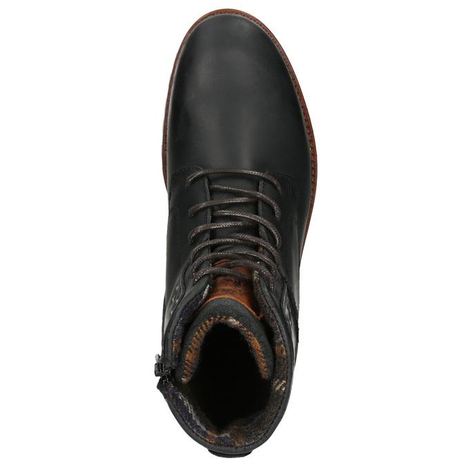 Kotníčková pánská obuv bata, černá, 896-6665 - 26