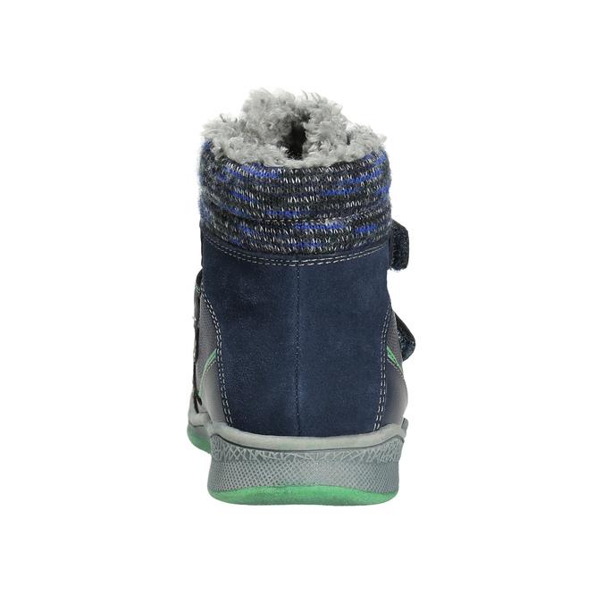 Dětská zimní obuv se zateplením bubblegummers, modrá, 114-9611 - 17