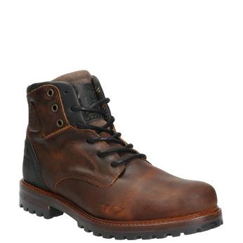 Kožená pánská obuv s masivní podešví bata, hnědá, 896-4665 - 13