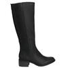 Dámské kozačky na nízkém podpatku bata, černá, 691-6600 - 15