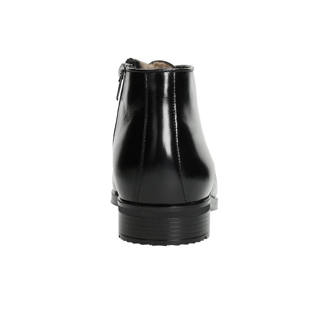 Kožená pánská obuv se zateplením conhpol, černá, 894-6700 - 16