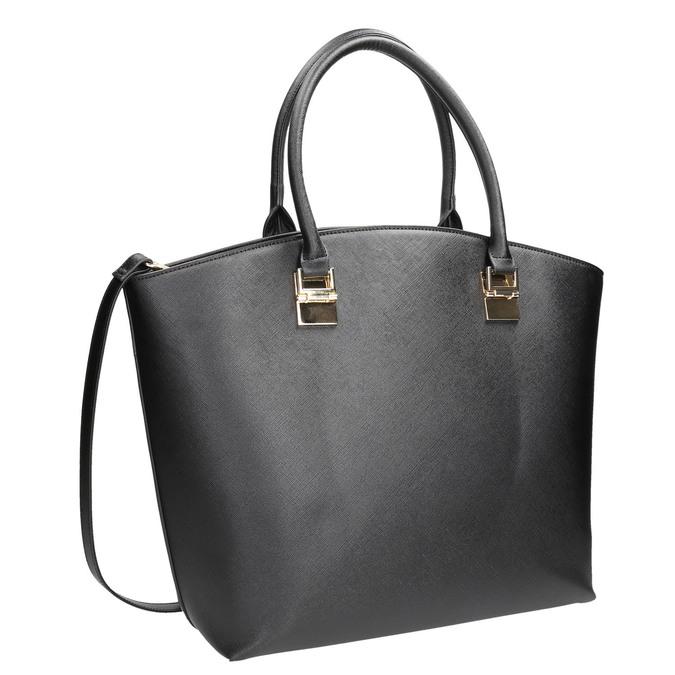 Dámská kabelka s popruhem bata, černá, 961-6821 - 13