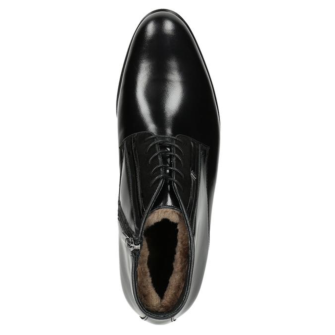 Kožená pánská obuv se zateplením conhpol, černá, 894-6700 - 15