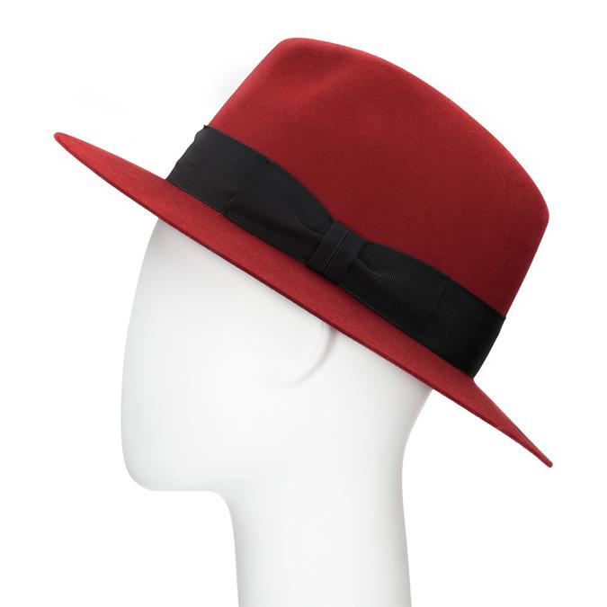 Červený klobouk z králičí srsti tonak, červená, 909-5649 - 26