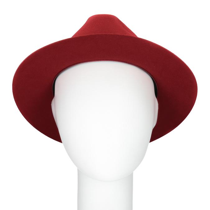 Červený klobouk z králičí srsti tonak, červená, 909-5649 - 16