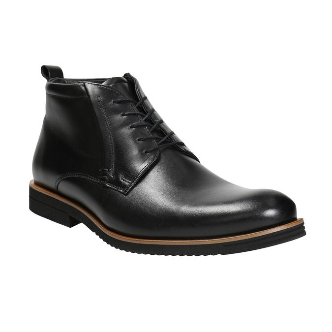 Pánská kožená kotníčková obuv conhpol, černá, 894-6696 - 13