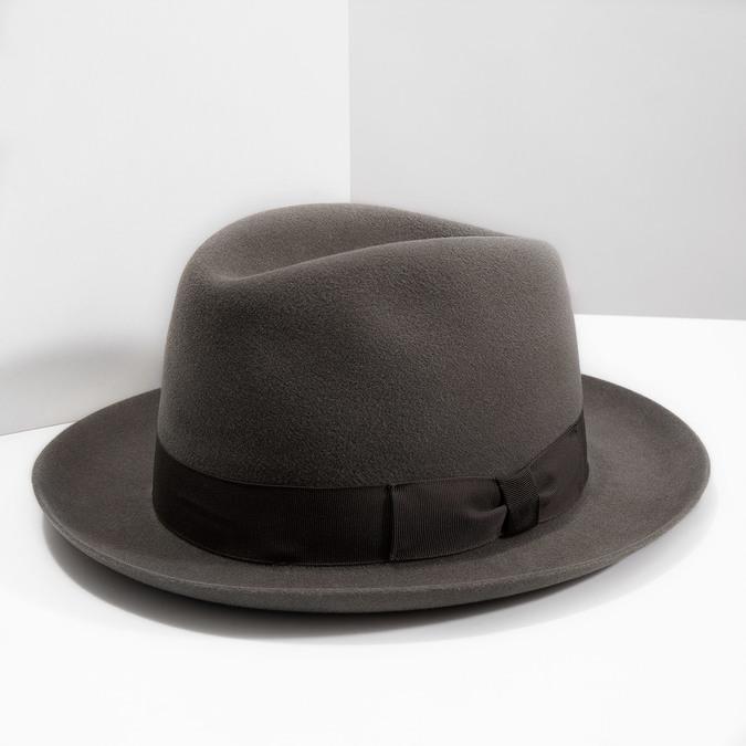 Pánský hnědý klobouk s mašlí tonak, hnědá, 909-3648 - 18