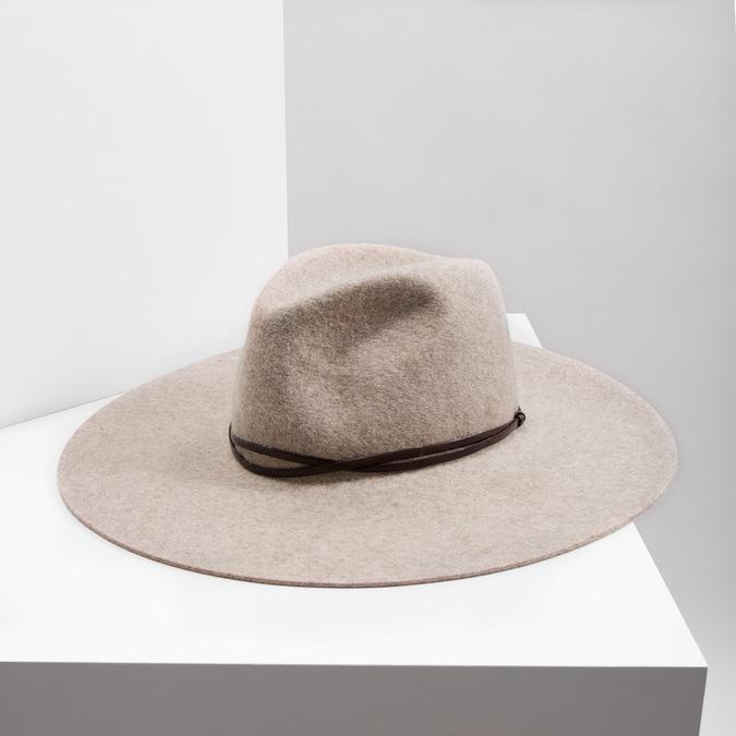 Dámský vlněný klobouk tonak, béžová, 909-8652 - 18